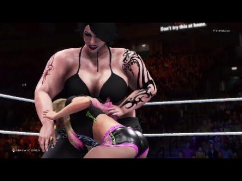 bbw wrestling skinny girl