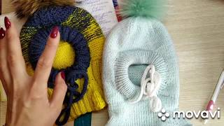 МК шапка шлем спицами. Часть 1. Описание, манишка.#шапочкашлем_для_начинающих