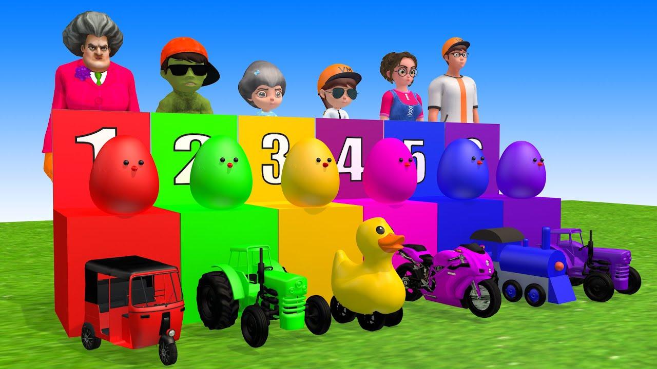 Hulk vs Granny funny egg  - Scary Teacher 3D Doctor miles morales funny prize wheel animation #1