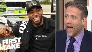 kawhi would make the raptors title favorites over lebron ads lakers max kellerman first take