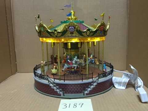 Lemax Village Collection Sunshine Carousel 14325 As-Is 3189