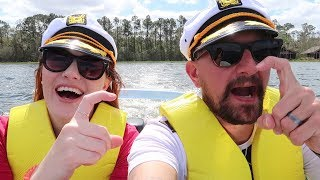 We Rented A Boat At Walt Disney World! | Our Boat Tour Of Bay Lake & Seven Seas Lagoon