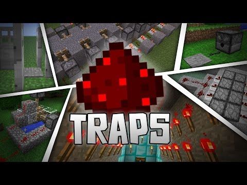 EPIC REDSTONE TRAP IDEAS! - 17 Redstone Traps In MCPE - Minecraft PE (Pocket Edition)