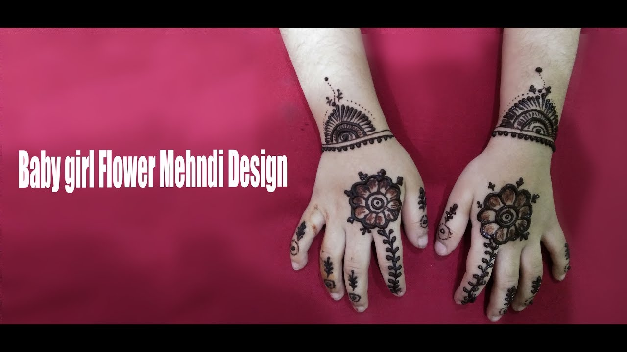 beautiful mehndi design children