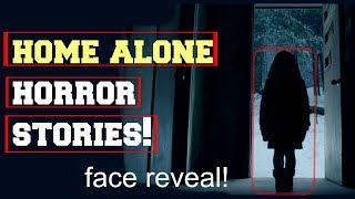 Video **FACE REVEAL!**   4 True HOME ALONE Horror stories!!   The Grim Reader download MP3, 3GP, MP4, WEBM, AVI, FLV November 2017
