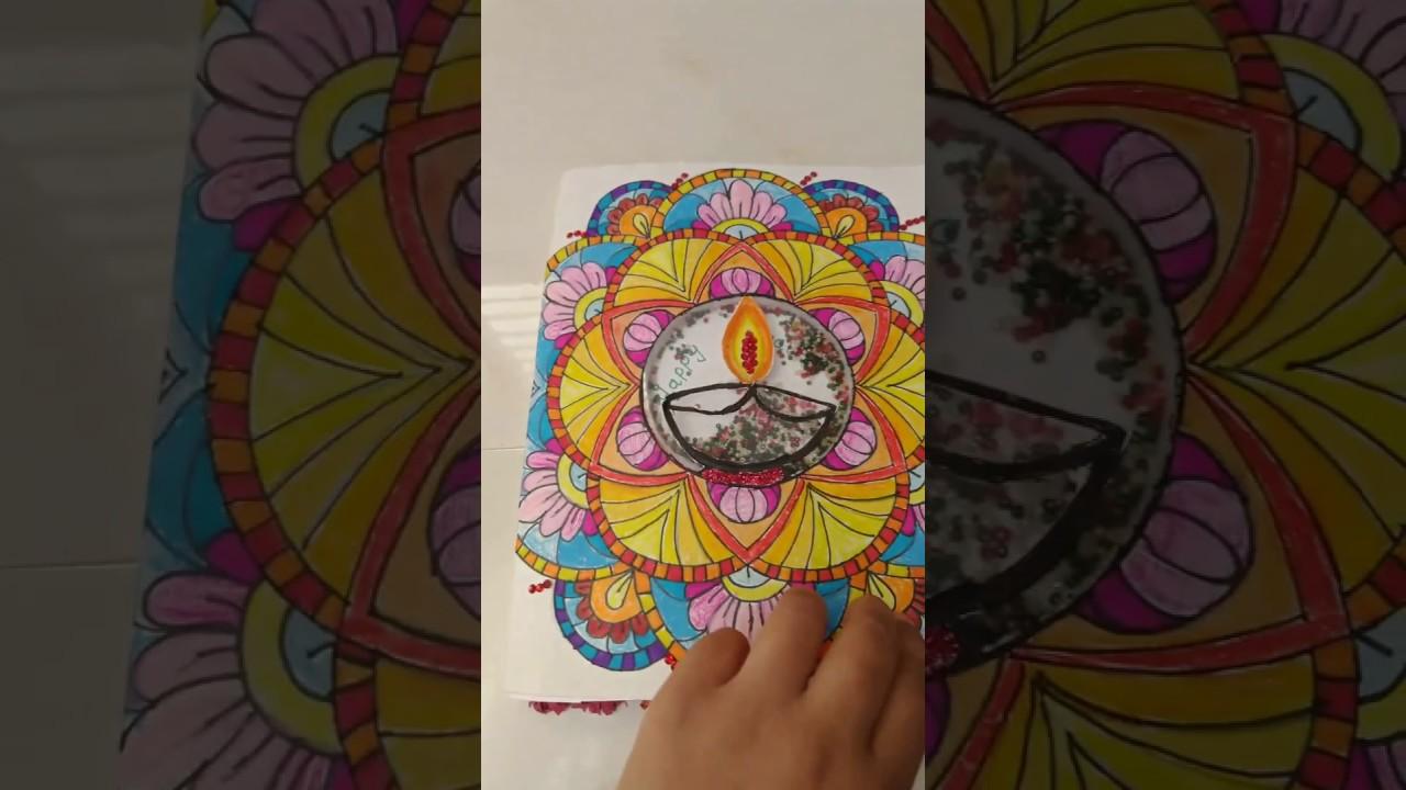 Diy Diwali special card|Diwali card|diy easy card|made easy diy card