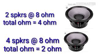 Ohm kya hai !! Details about SPEAKER and Amplifier ohms !!