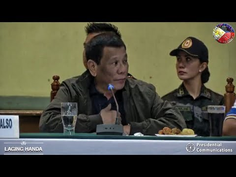 PRESIDENT DUTERTE IN LA TRINIDAD BENGUET PRESIDES OVER SITUATION BRIEFING DAMAGES CAASUALTIES !