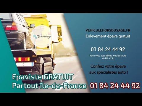 épaviste Agréé Vhu Enlèvement épave Gratuit Paris 75