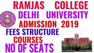 RAMJAS COLLEGE ADMISSION 2019!! RAMJAS COLLEGE DELHI UNIVERSITY ADMISSION 2019