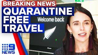 Trans Tasman travel bubble to open | 9 News Australia