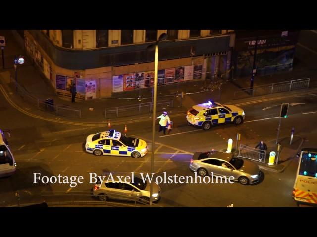Primeras imágenes de los servicios de emergencias acudiendo al lugar del atentado de Manchester