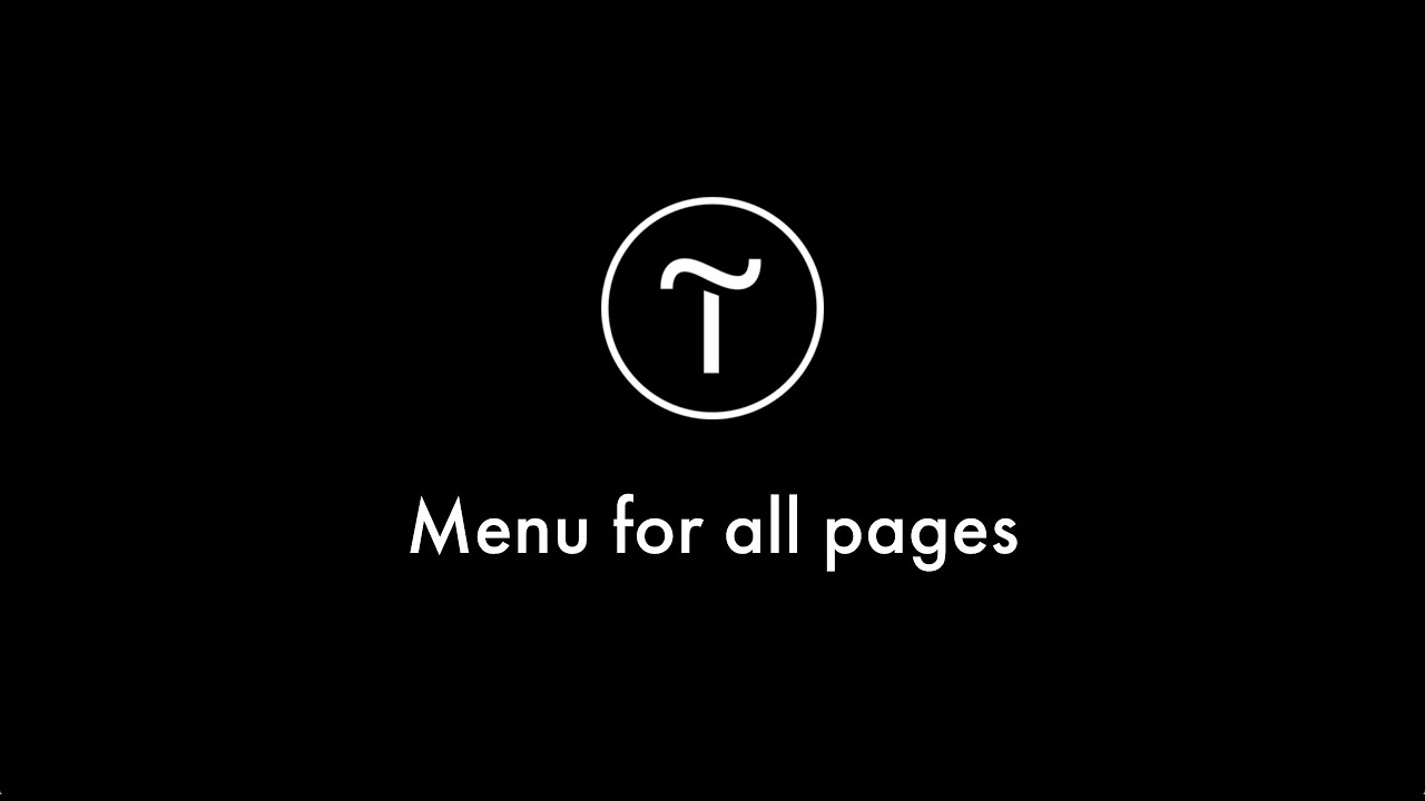 How to add a menu to the site
