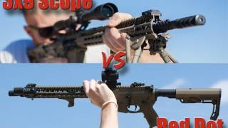 3-9 Scope vs Red Dot Speed Test: 10, 50, and 100 Yards