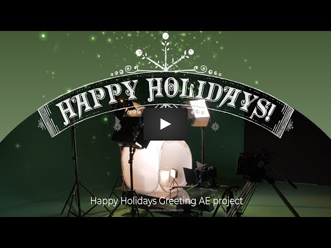 Happy Holidays - Christmas Videography Studio Greetings! - AE template project