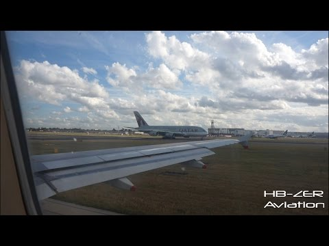 Airbus A320 British Airways - Pushback, Taxi, Take-Off at London Heathrow to Geneva