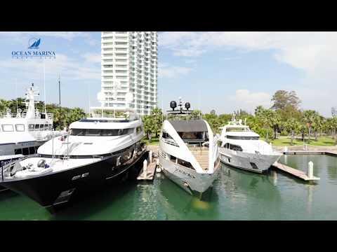 Ocean Marina in Pattaya, the biggest marina in South East Asia