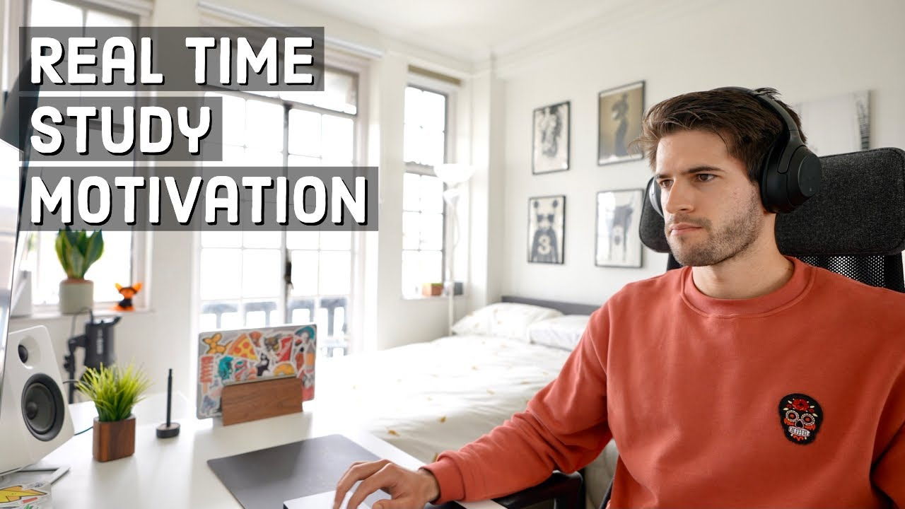 REAL TIME study with me (no music): 1 HOUR Productive Power Session   KharmaMedic