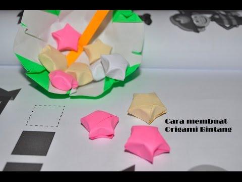 Kreasi mudah membuat origami bintang kecil