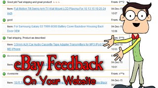 Add Your eBay Feedback To Your Website