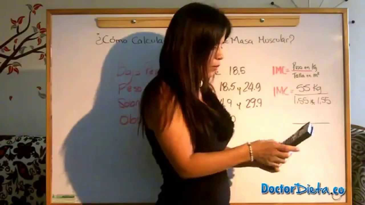 calcular indice de masa muscular mujer