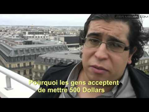 rich qatari arab throw some iphone 5 phones in trash in Paris