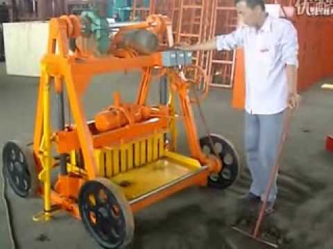 small cheap price cement block making machine/ mobile block making machine 40-3B