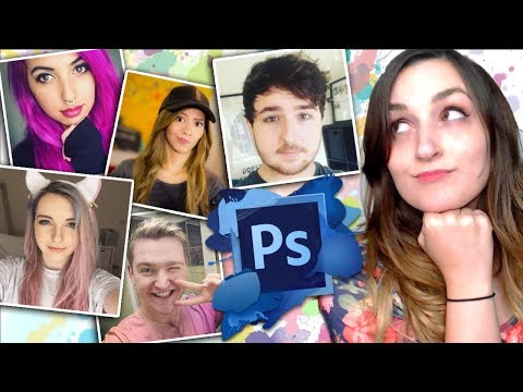 PHOTOSHOPPING MY YOUTUBE FRIENDS (Into Their Alter Egos)