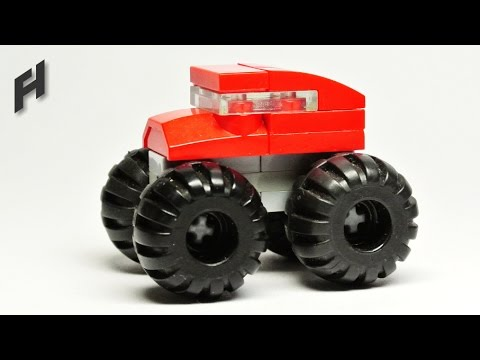 How To Build The Microscale Lego Monster Truck Moc Youtube