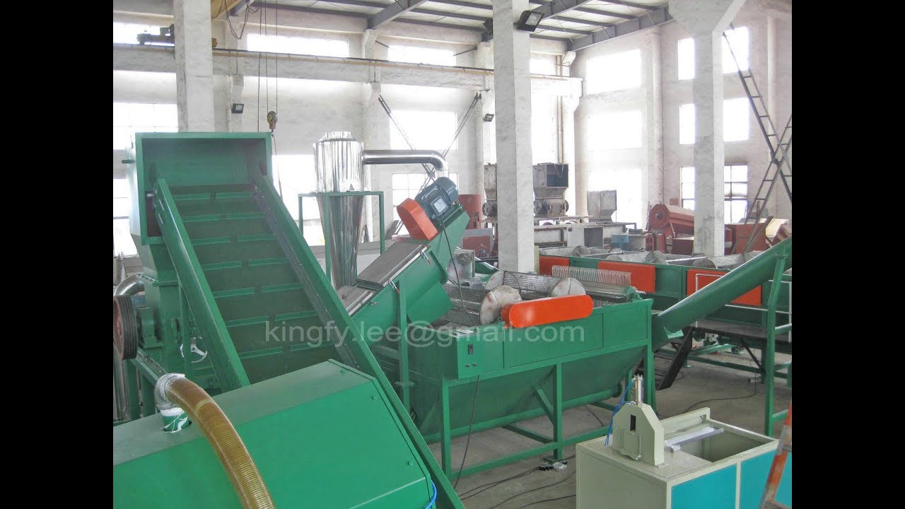 HDPE plastic bottle recycling machine, HDPE recycling washing line