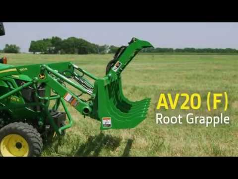 Clean Up Dead Tree Branches Using A Root Grapple