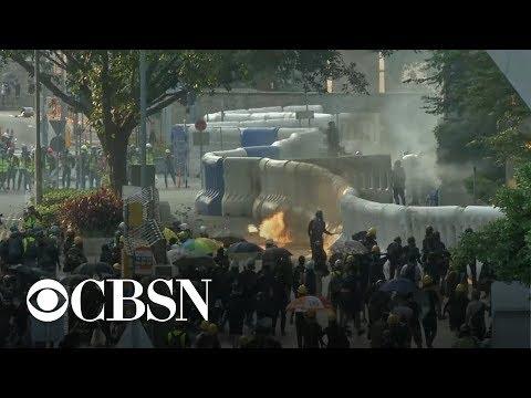Violent Protests Erupt In Hong Kong