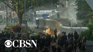 Violent protests erupt in Hong Kong