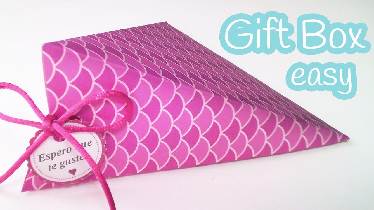 Diy Crafts Gift Box Easy Triangular Innova Crafts Youtube