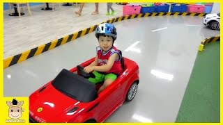 Indoor Playground Fun Red Car Drive for Kids and Family Cafe | MariAndKids Toys