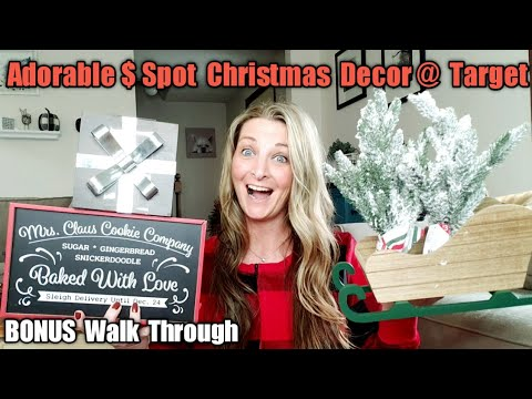 Target Dollar Spot Christmas Decor Haul & Walk Through 2019