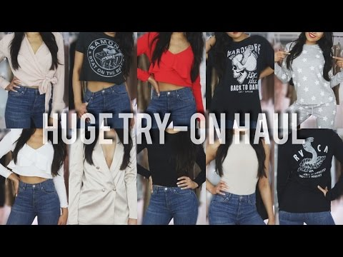 SHOPPING ADDICT'S TRY-ON HAUL 2017 | Asos, Missguided, Meshki Boutique & Zara