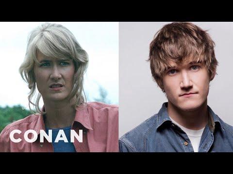"""Bo Burnham Is A Dead Ringer For Laura Dern In """"Jurassic Park""""  - CONAN on TBS"""