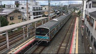 JR奈良線 黄檗駅の221系と205系 JR Nara Line Ōbaku Station (2018.8)