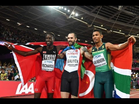 Ramil Guliyev shocks Wayde van Niekerk to win 200m title at IAAF Worlds
