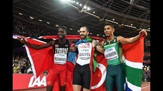 Ramil Guliyev shocks Wayde van Niekerk to win 200m title at IAAF Worlds