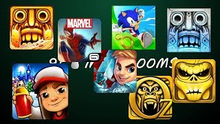 Temple Run 2 Blazing Sands Vs Sonic Dash Vs Spiderman Unlimited Vs Zombie Run Vs Temple Run 2 Frozen