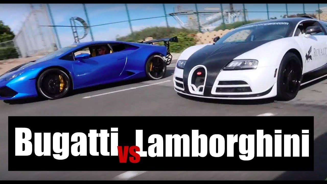 Bugatti Vs Supercharged Lamborghini Huracan Head To Head Race