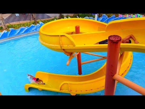Funny Toddlers Fun Playing Water & Sliding Kids Toys Swimming Pool Swimming Pool Children