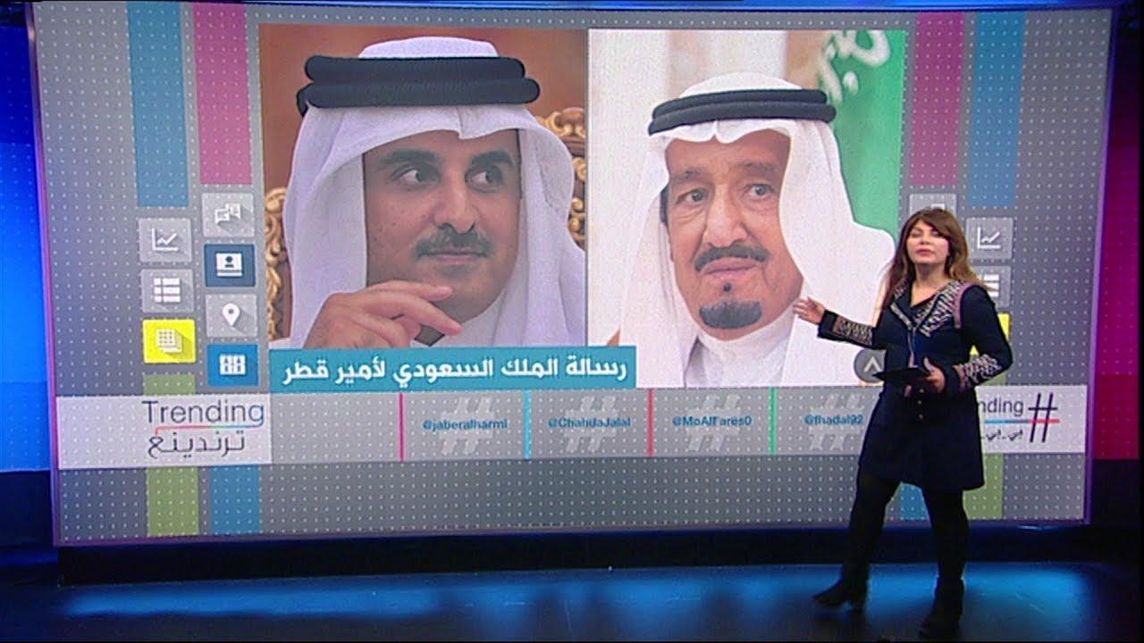 الملك سلمان يرسل دعوة لأمير #قطر لحضور القمة الخليجية في #الرياض #بي_بي_سي_ترندينغ
