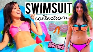 Repeat youtube video Swimsuit Collection 2015! Trying on Bikinis | Niki and Gabi