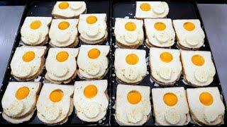 독특한 비주얼 계란 샌드위치 / Unique Visua…