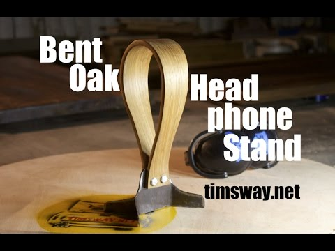 Bent Oak & Steel Headphone Stand (Reclaimed, of course)