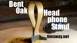 Bent Oak & Steel Headphone Stand (Reclaimed, of course)