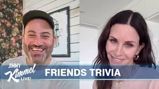 Jimmy Kimmel's Quarantine Minilogue - Friends Trivia with Courteney Cox